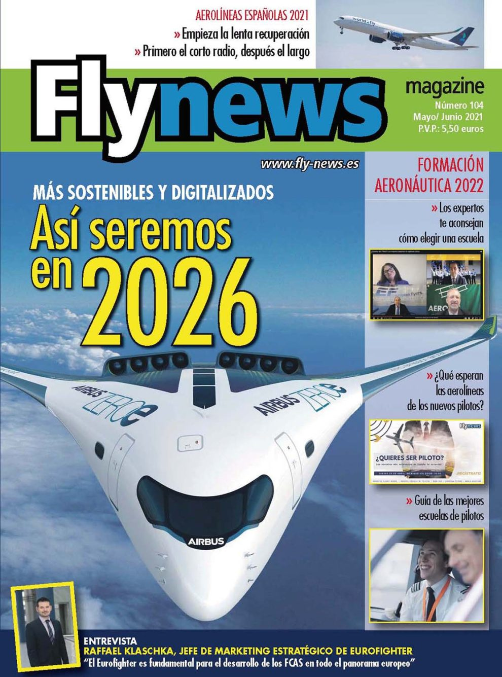 Portada del número 104 de Fly News.