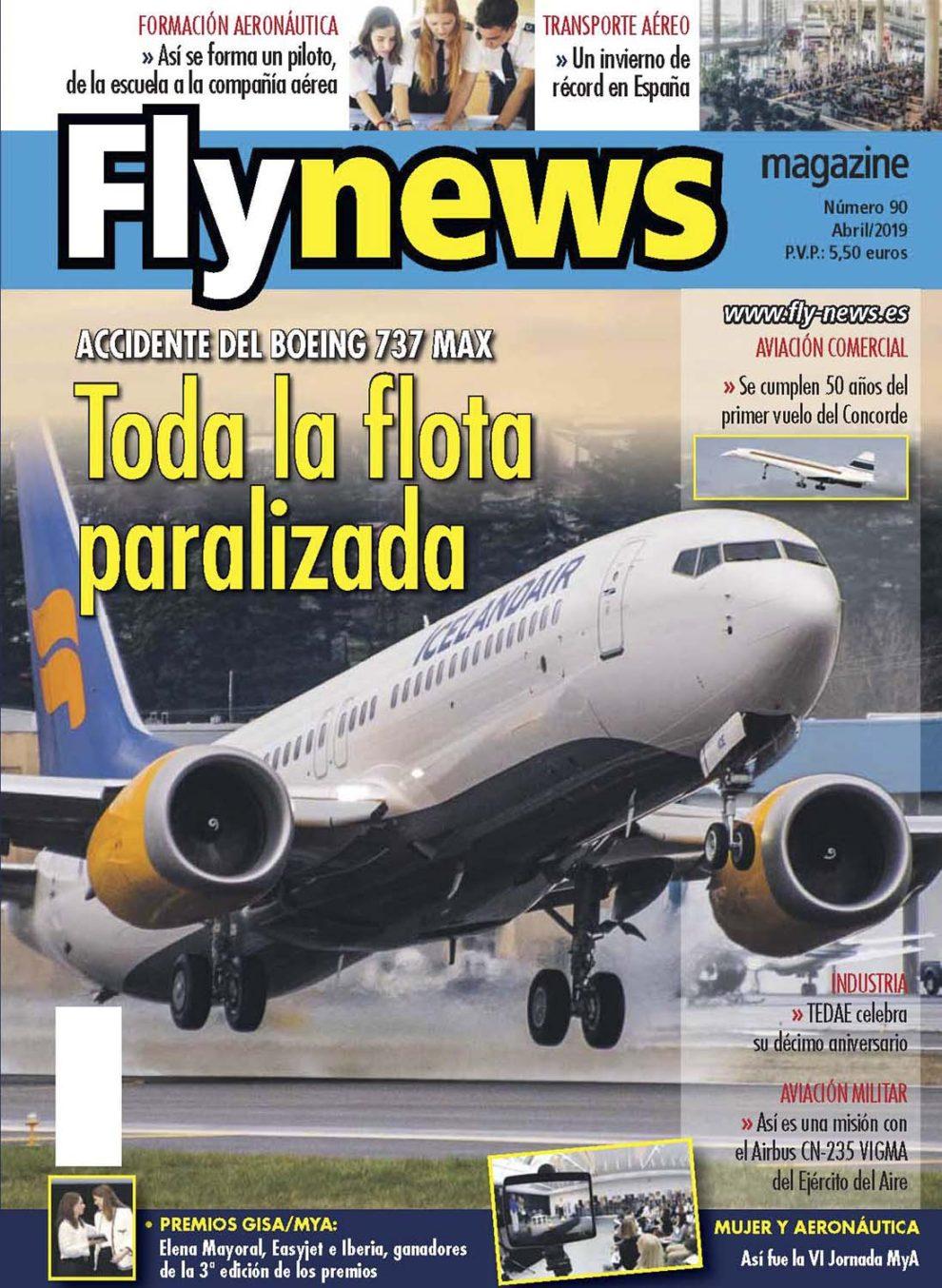 La crisis en Boeing por los accidentes de los B-737 MAX protagoniza la portada de Fñy News.