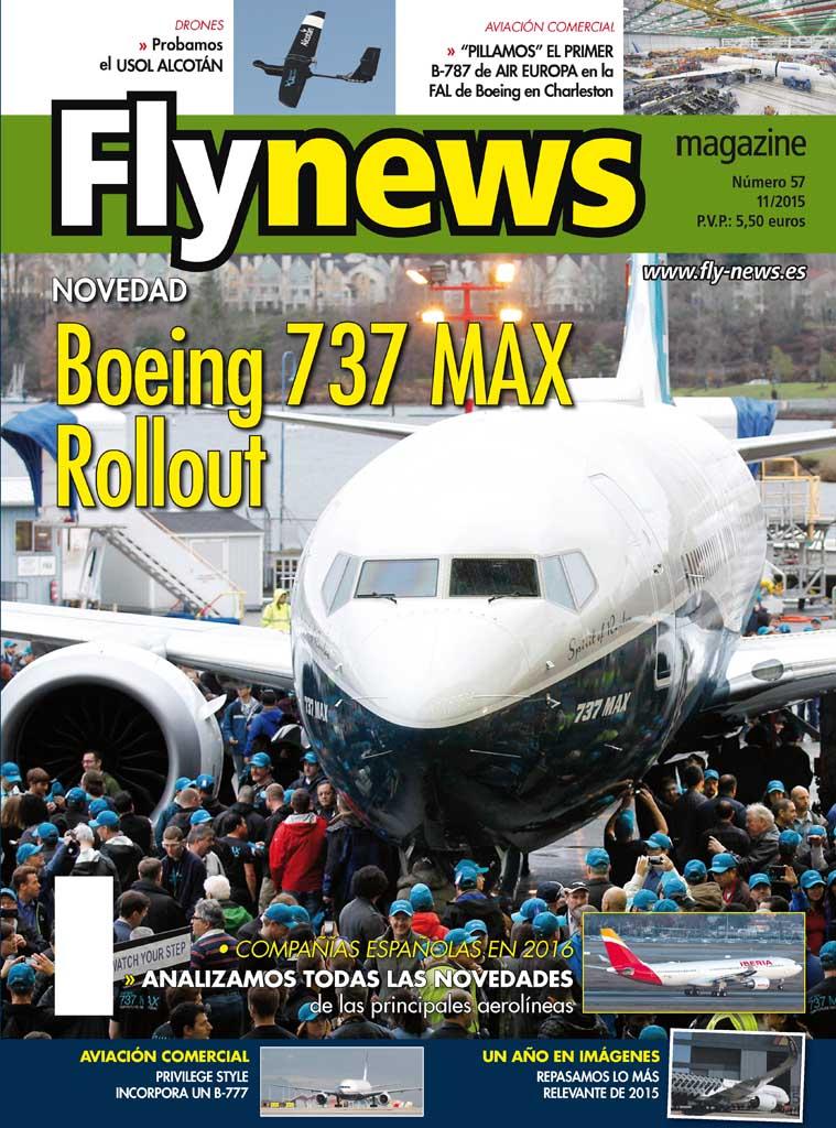 Este mes nuestra portada es para el nuevo Boeing 737 MAX que acaba de hacer su rollout.