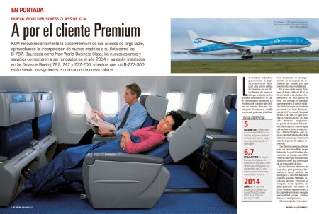 KLM está renovando los asientos y servicios en su clase business de largo radio.