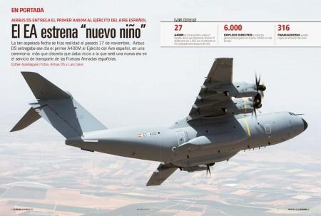 España ha sido el quinto país en recibir el Airbus Defence and Space A400M para su fuerza Aérea.