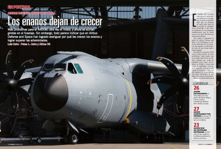 El primer A400M para el Ejército del Aire está listo para su primer vuelo en Sevilla.