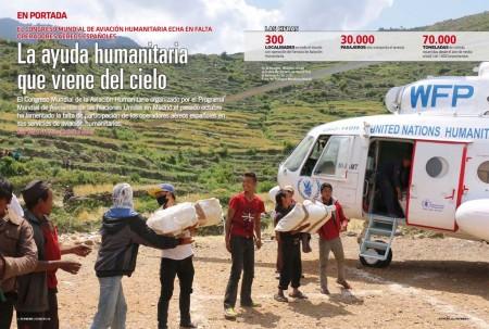 El Programa Mundial de Alimentos de las Naciones Unidas lleva ayuda a las zonas en crisis.
