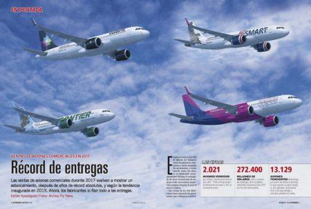 Sin duda el pedido de 274 aviones A320 por parte de Indigo Partners para las cuatro aerolíneas en las que es accionista ha sido el más importante de 2017.