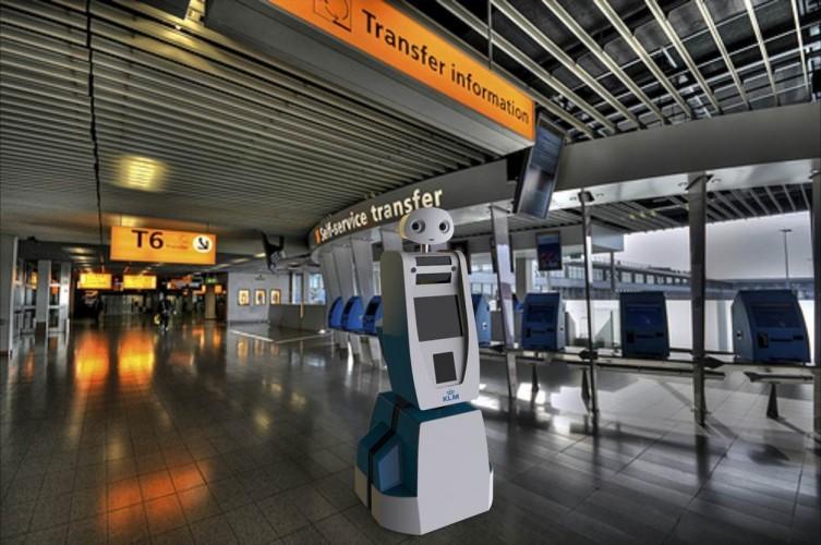 """Robot """"Spencer"""" de la compañía KLM."""