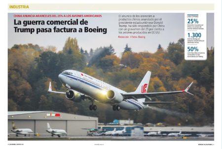 Las relaciones de Boeing con China se verán afectadas por los nuevos aranceles a la importación que Estados Unidos y China quieren imponerse mutuamente.