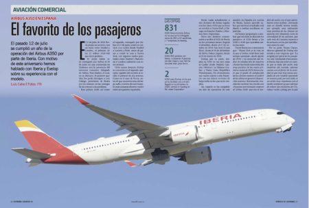 Un año de operación del Airbus A350 por parte de Iberia.