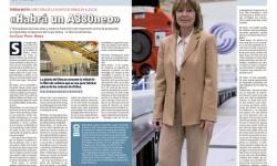 Teresa Busto dirige la planta de Airbus con mayor empleo femenino.