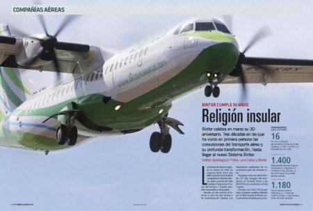 Binter Canarias fue creada por Iberia hace 30 años y desde 2002 vuela sola.