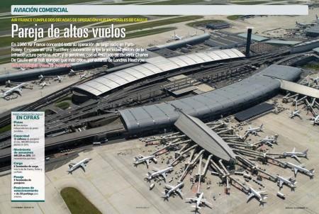 Hoy el aeropuerto Charles de Gaulle poco tiene que ver a como era cunado Air France comenzó su operación hub allí.