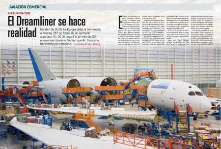 El primer Boeing 787 de Air Europa en la cadena final de montaje en Charleston.