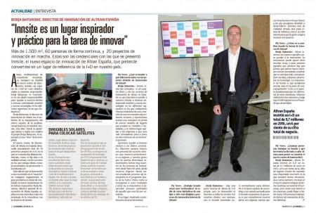 Borja Baturone está al frente de Innsite, el nuevo espacio de innovación de Altran.