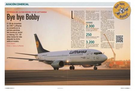 Un arco de agua saluda la llegada del último vuelo de un Boeing 737 con Lufthansa. Fly News estaba a bordo.