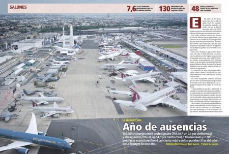 Durante el salón de Le Bourget de este año se han anunciado ventas de aviones por más de 113.000 millones de dólares.