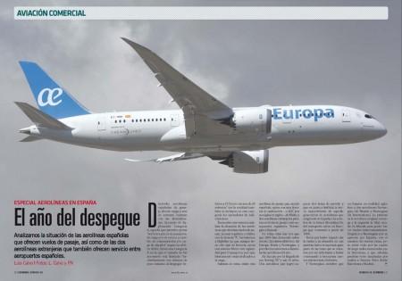 El Boeing 787 de Air Europa, del que la aerolínea ya tiene cinco, es el más moderno avión en servicio en España.