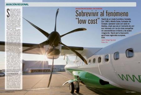 La denominada aviación regional representa entre el 17 y el 18 por ciento de los vuelos en Europa, transportando a algo más de 46 millones de pasajeros en unos 960.000 vuelos anuales.