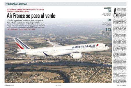 Air France ya ha dado sus primeros pasos para convertirse en una aerolínea más ecológica.