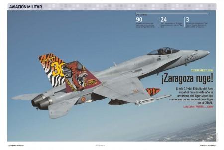 El espectacular F/A-18 Tigre del Ala 15 del Ejército del Aire español.