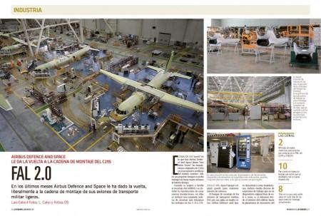 La cadena de montaje de los transportes medios de Airbus Defence and Space funciona ahora de una manera más eficiente.
