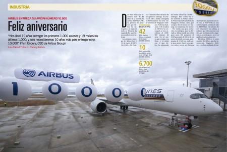 Airbus espera entregar otros 10.000 aviones en solo diez años.