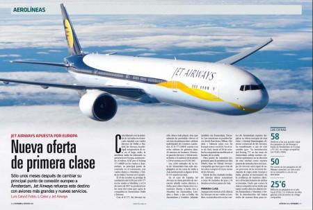 Jet Airways ha sustituido sus A330 por los B-777 en sus vuelos a Amsterdam, aviones que incluyen primera clase.