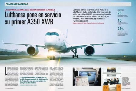 Los primeros Airbus A350 de Lufthansa vuelan desde Muncih a India, Canadá y Estados Unidos.