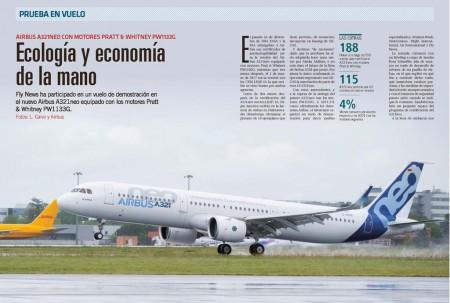 Fly News ha sido la única publicación española invitada a volar en el A321neo.