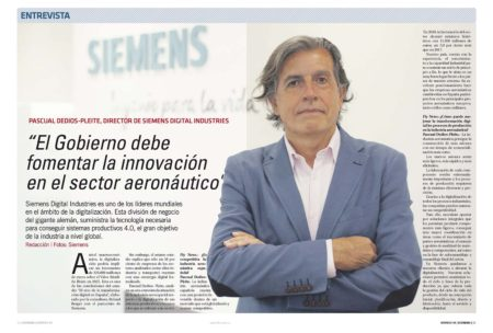 Pascual Dedios-Pleite, director de Siemens Digital Industries y presidente de Siemens Industry Software en España