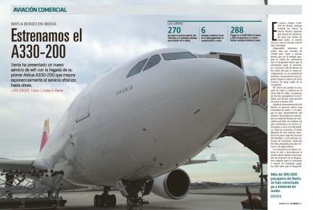 Hemos probado en vuelo el wifi del nuevo Airbus A330-200 de Iberia.