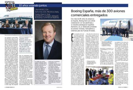 Stan A. Deal, presidente y consejero delegado de Boeing Commercial Airplanes de suma a las felicitaciones a Fly News.