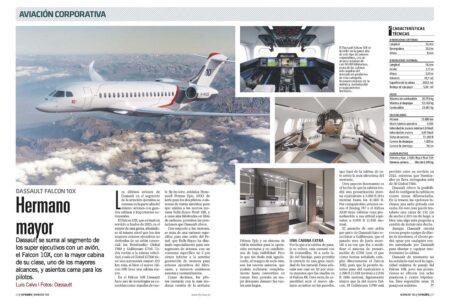 El Dassault falcon 10X podrá recorrer casi 14.000 km con ocho pasajeros a bordo.