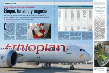 Ethiopian inauguró sus vuelos a Madrid en 2014 con el B-787, pero es ahora cuando lo usará regularmente en su ruta entre Adis Abebay Madrid.