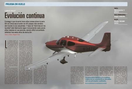El Cirrus SR22 tiene unas líneas atractivas, vuela bien, y su paracaídas balístico de recuperación añade un punto de seguridad.