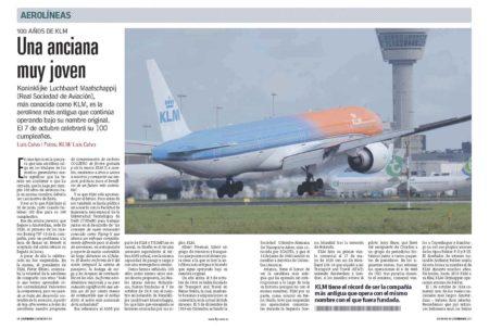 KLM cumple 100 años y olo hace apostando por la sostenibilidad del transporte aéreo para el futuro.