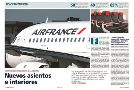 Tras renovar los interiores de sus aviones de largo radio, ahora toca en Air France la de medio radio europeo.