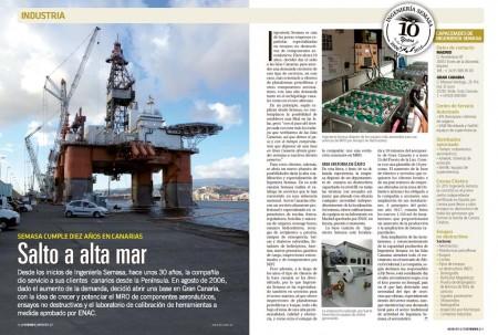 Semasa en Canarias también se dedica al mantenimiento de plataformas petrolíferas.