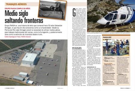 FAASA se ha convertido en 50 años en el mayor operador de trabajos aéreos de España.