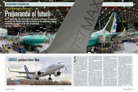 Todos los fabricantes de aviones comerciales tienen previsto novedades y noticias para este año 2017.