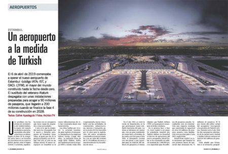 El nuevo aeropuerto de Estamul está a 40 km de la ciudad y llegará a ocupar más de 3 milloes de metros cuadrados, más de dos veces Barajas.