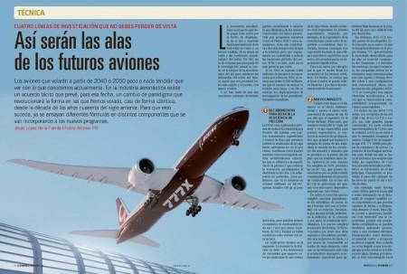No es tan revolucionaria como las alas que veremos en 10 o 20 años, pero la del Boeing 777X, con sus modificaciones, es un claro exponente del camino a seguir