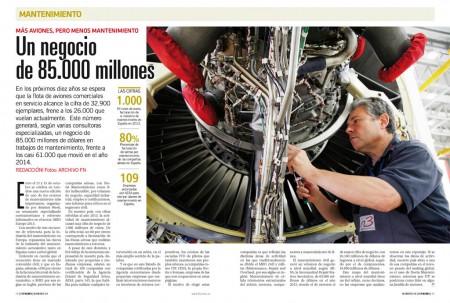 Empresas como Iberia o ITP están entre los  líderes mundiales en algunos campos del mantenimiento aeronáutico