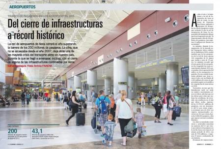 Más de 200 millones de personas han pasado por los aeropuertos españoles en 2015.