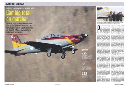 Los dos primeros, de 24, Pilatus PC-21 ya están en San Javier.