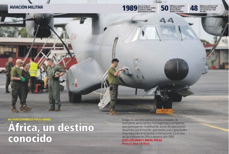 Las Alas 31 y 35 del Ejército del Aire cuentan con destacamentos en África para apoyar a diferentes operaciones en busca de la paz.