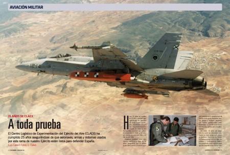 El CLAEX se encarga de certificar y modernizar aeronaves, armas y sistemas del Ejército del Aire español.