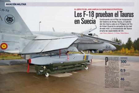 Personal del Ejército del Aire se ha desplazado a Suecia para el lanzamiento de misiles Taurus reales.