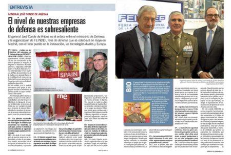El general José Conde de Arjona es el enlace entre el ministerio de Defensa y la organización de FEINDEF.