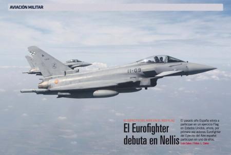 Las Alas 11 y 14 con sus Eurofighter están en la base de Nellis participando en los ejercicios Red Flag.