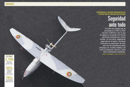 La normativa de operación de drones en España incluye la posibilidad de volar sobre núcleos urbanos y de noche.