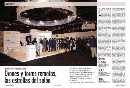 Torres virtuales y drones han sido dos de los aspectos más destacados del World ATM Congress de este año.